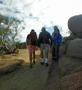 Hiking Club on Pinnacle Peak Trail